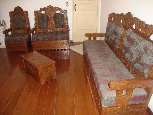 Sofa Antigo De Madeira R 6 000 00 Em Mercado Livre
