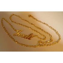 Promoção Cordão Ouro Pingente Nome 18k 2,8gr 48cm