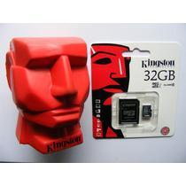Micro Sd Kingston 32gb Clase 10hc I Original + Adaptador