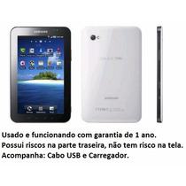 Tablet Celular Galaxy Samsung Gt-p1000 16gb Wifi 3g Tv Usado