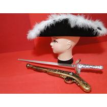 Fantasia Mosqueteiro Espada Chapeu Zorro Imperial Capitão