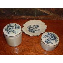 Belo Conjunto 3 Peças De Porcelana Para Banheiro