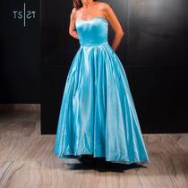 Vestido Azul Cielo Esponjado Corto Largo Sherri Hill