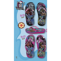 Ojotas Alta Goma Niñas Monster High Originales 25/36 Kids