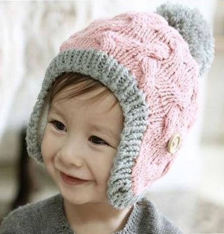 67c2d57b981a2 Gorro Tejido En Lana Para Bebés Niñas Importados -   22.000 en Mercado Libre