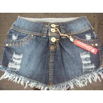 Saia Jeans Bico Rasgada Curta Mini Destroyed Causual Verão