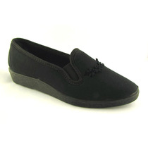 Zapatos Zapatillas Sandalias Tela Taco Bajo Goma Elastizadas