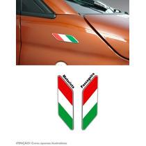Adesivo Bandeira Italia Resinada Fiat 500 Paralama Preço Par