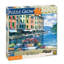 Brinquedo Quebra Cabeça Grow 5000 Peças Vista De Portofino
