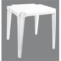 Mesa De Plástico Firenze 72x72x72 Empilhavel Quadrada Branca