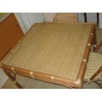 Junco E Apui - Conjunto De Mesa E 4 Cadeiras Em Apui E Junco