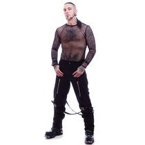 Camisa Mesh Gotica Ropa Dark Metal Goth