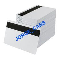 Tarjetas De Pvc Con Banda Magnética. Paquete Con 10 Piezas.