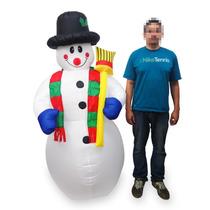 Boneco De Neve Gigante Natal Inflavel Natalino Eletrico