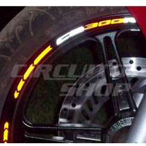 Friso Adesivo Tuning Roda Refletivo M03 Moto Honda Cb 300 R