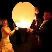 15 Globos De Cantoya Blancos,bodas,eventos,fiestas Hm4