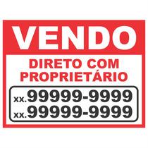 Placa Em Pvc Vendo Vende-se Aluga-se P/ Imóvel