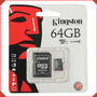 Memoria Micro Sd 64gb Clase 10 Kingston Por Mayor Y Menor