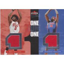 2007-08 Fleer Ultra One One Jersey Ben & Rasheed Wallace /99