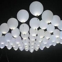50 Globos Led Color Blanco ,velas,hielos Led,boda,fiesta,vv4