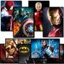 Quadro Placa Infantil Vingadores Homem Aranha Capitão Heroes