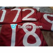 Estampados Numero Y Nombre Remeras De Futbol Tienda Siam
