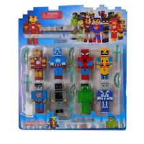 Minecraft Kit 8 Bonecos Super Herois Cubeecraft Marvel