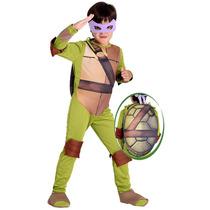 Fantasia Tartarugas Ninjas Donatelo Luxo C/ Mascara E Casco