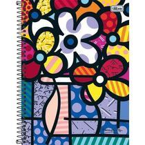 Caderno Capa Dura Universitário 10 Matérias Romero Britto