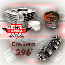 Kit Competicao Pistao/aneis 4mm Titan 150 + Comando 296ºwgk