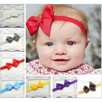 Kit C/ 2 Faixas Tiara Cabelo Bebê Renda Flor Laço Vários Mod
