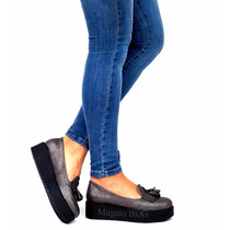 Chatitas Zapatos Sandalias Mocasines Con Plataforma