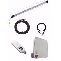 Kit Rural Alto Ganho | Roteador Wifi, Modem E Antena 25dbi