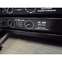 Amplificador Slim Potência Audio Leader 400 Watts Rms - Top!