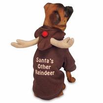 Sweater Navideño Para Perro Con Astas De Reno Xx Chico