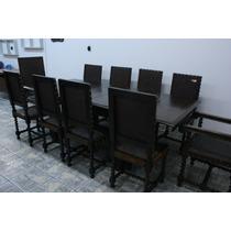 Mesa De Jantar Estilo Manuelino - Início Século 20