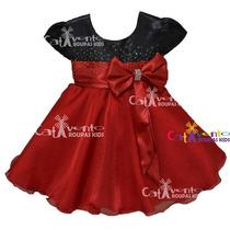 Vestido Infantil Festa Minnie Vermelho Luxo - Promoção!