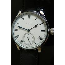 Exclusivo Reloj Elgin Año 1907 Mecanico Unico 43mm Porcelana