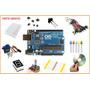 Kit Arduino Uno R3 Básico + Servo + Protoboard = 130pç