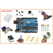 Kit Básico Arduino Uno R3 Automação + Servo + Proto = 130pç