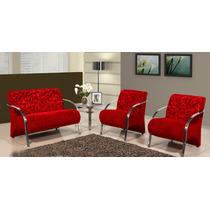 Conjunto De Cadeiras Decorativas - Sala De Estar Recepção