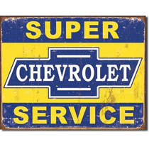 Anuncio Poster Lamina Metalico Chevrolet Service 0173
