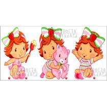 Kit 3 Moranguinho Baby Display Mesa Decoração Festa Infantil