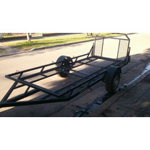 Trailer Doble Facundo Cuatris,motos,utv, Stock Permanente