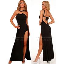 Vestido Longo Em Viscolycra Com Fenda Roupas Femininas Moda