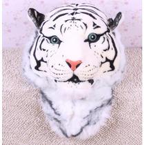 Mochila De Cabeza De Tigre De Bengala Blanco Moda Bolsa