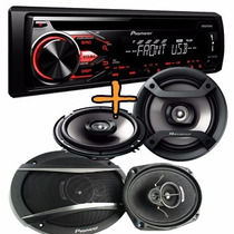 Combo Pioneer Stereo Mp3 Usb Am/fm+ 6x9 3v 420w + 6.5 200w