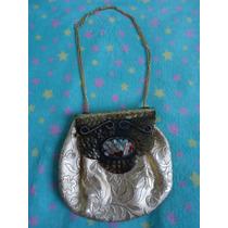 Bolsa/clutch/carteira Mão Artesanal C/ Pedraria Da Tailândia