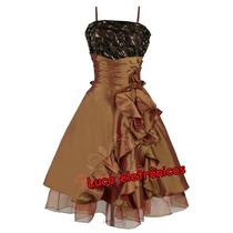 Vestido De Festa Dourado Para 15 Anos, Formatura, Casamento