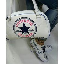 Combo De Zapatos Y Bolso Converse Moda Colombiana